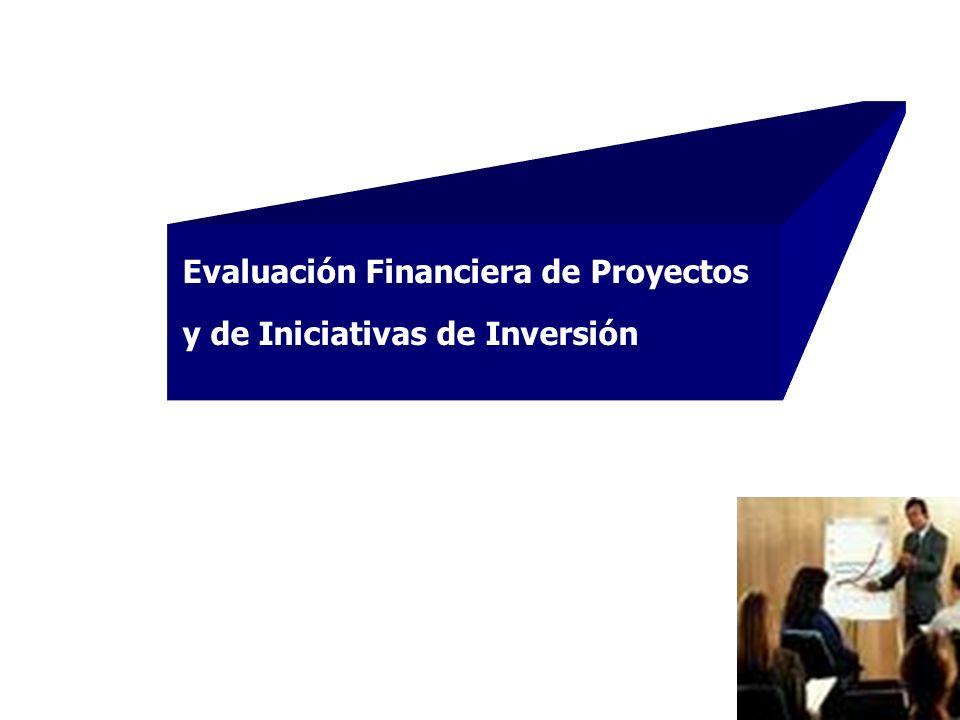 1 Evaluación Financiera de Proyectos y de Iniciativas de Inversión