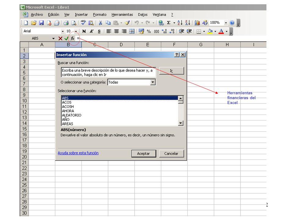 92 Herramientas financieras del Excel