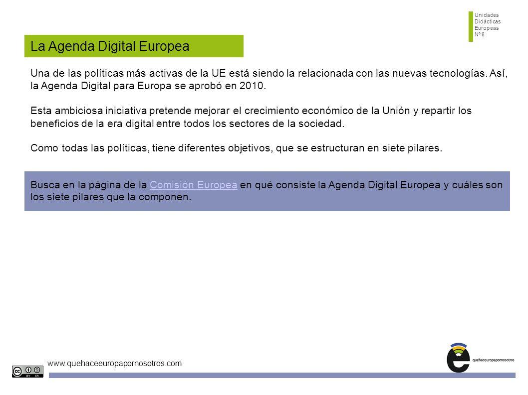 Unidades Didácticas Europeas Nº 8 www.quehaceeuropapornosotros.com 1.