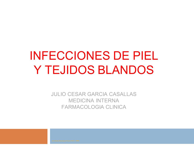 INFECCIONES DE PIEL Y TEJIDOS BLANDOS JULIO CESAR GARCIA CASALLAS MEDICINA INTERNA FARMACOLOGIA CLINICA Dra Amalia Rodríguez French FACS, APMC