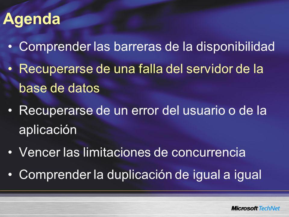 Base de datos en clúster Conmutación por error de unos 20 segundos Ocho nodos Sin pérdidas del trabajo comprometido Soporta más servicios SQL Clúster de conmutación por error