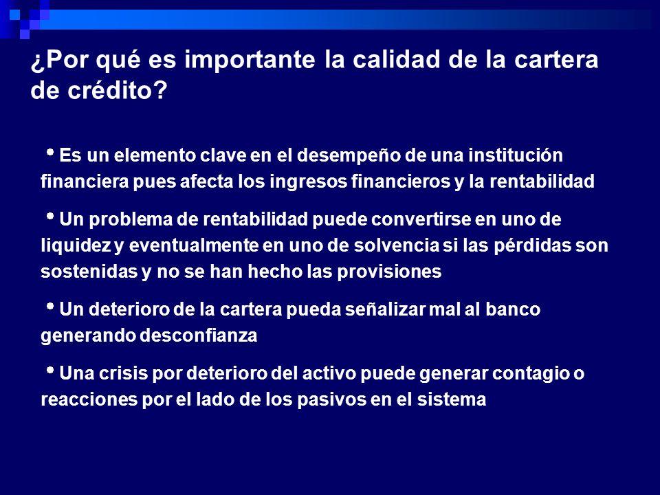 Es un elemento clave en el desempeño de una institución financiera pues afecta los ingresos financieros y la rentabilidad Un problema de rentabilidad