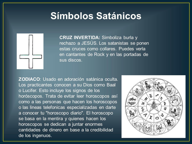 CRUZ INVERTIDA: Simboliza burla y rechazo a JESÚS. Los satanistas se ponen estas cruces como collares. Puedes verla en cantantes de Rock y en las port