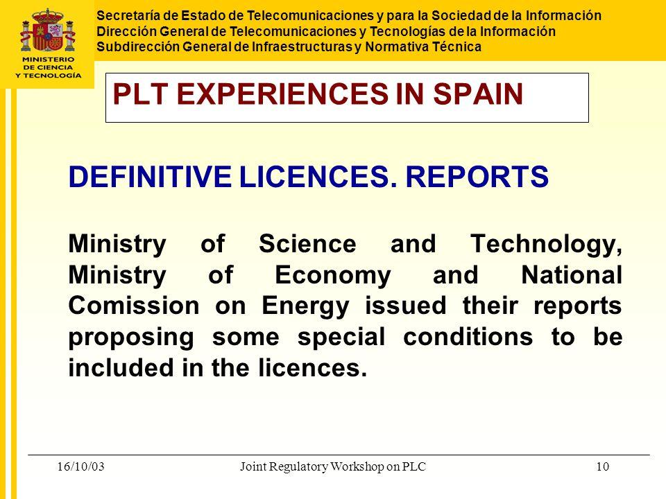 Secretaría de Estado de Telecomunicaciones y para la Sociedad de la Información Dirección General de Telecomunicaciones y Tecnologías de la Informació