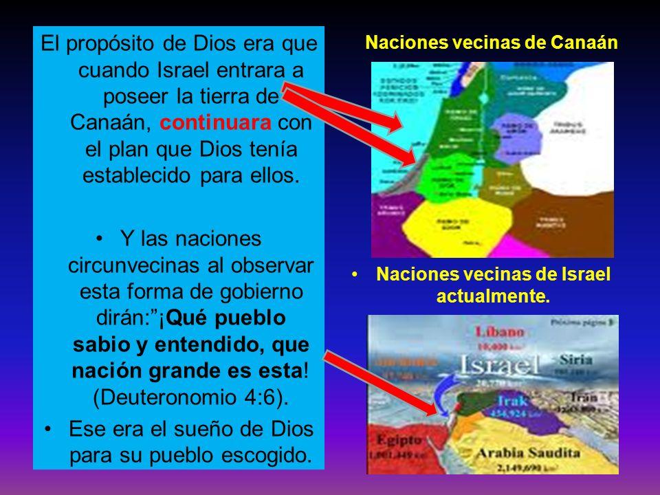 El propósito de Dios era que cuando Israel entrara a poseer la tierra de Canaán, continuara con el plan que Dios tenía establecido para ellos. Y las n