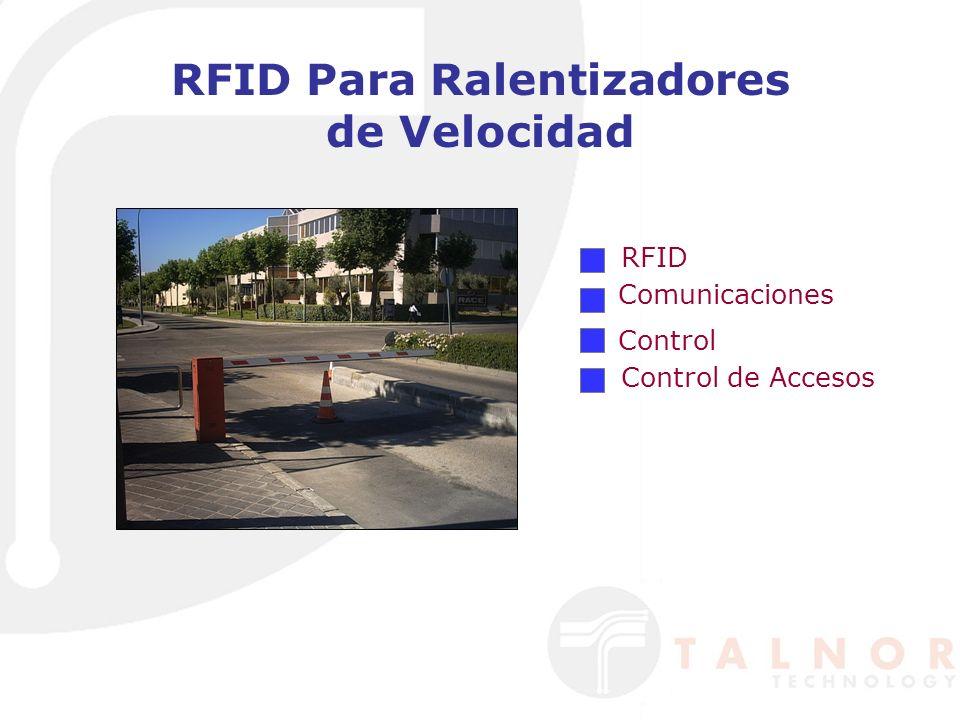RFID Para Ralentizadores de Velocidad RFID Comunicaciones Control Control de Accesos