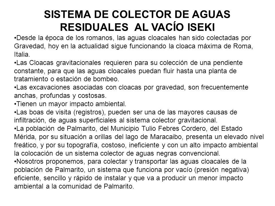 Los Primeros 100 años de Sistemas Colectores de Cloacas al vacío El principio de usar el vacío para colectar aguas negras y otros líquidos, data de los 1.860s.