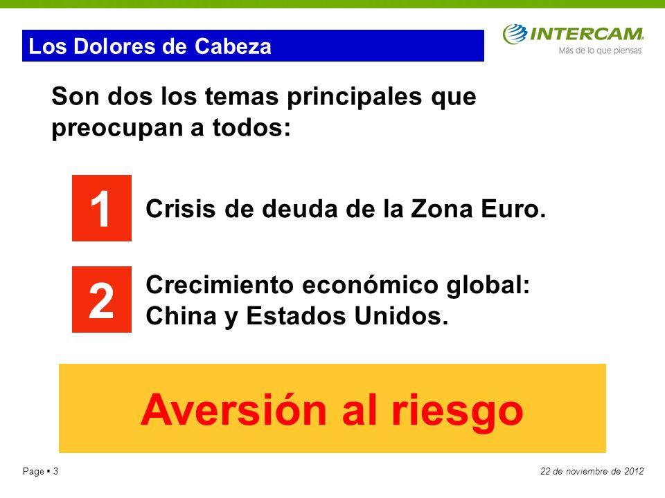 Page 1422 de noviembre de 2012 Crecimiento económico muy lento.
