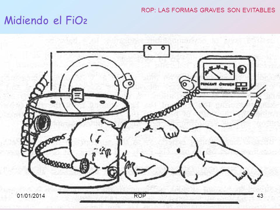 Midiendo el FiO 2 ROP: LAS FORMAS GRAVES SON EVITABLES 01/01/201443ROP