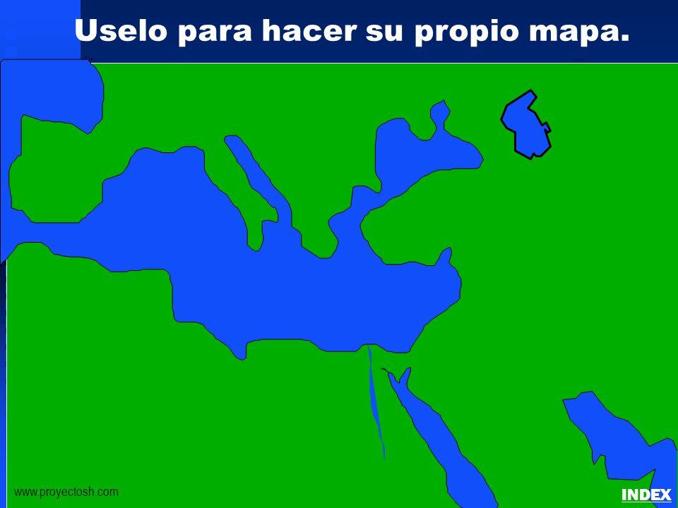 Click to add title Click to add textClick to add text Israel Uselo para hacer su propio mapa. www.proyectosh.com Bible Lands Blank Map INDEX