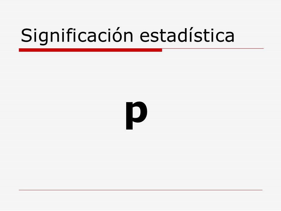 Significación estadística p