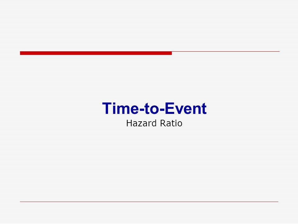Time-to-Event Hazard Ratio