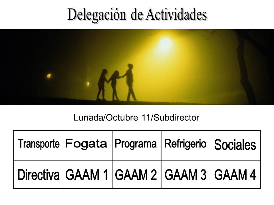 Lunada/Octubre 11/Subdirector