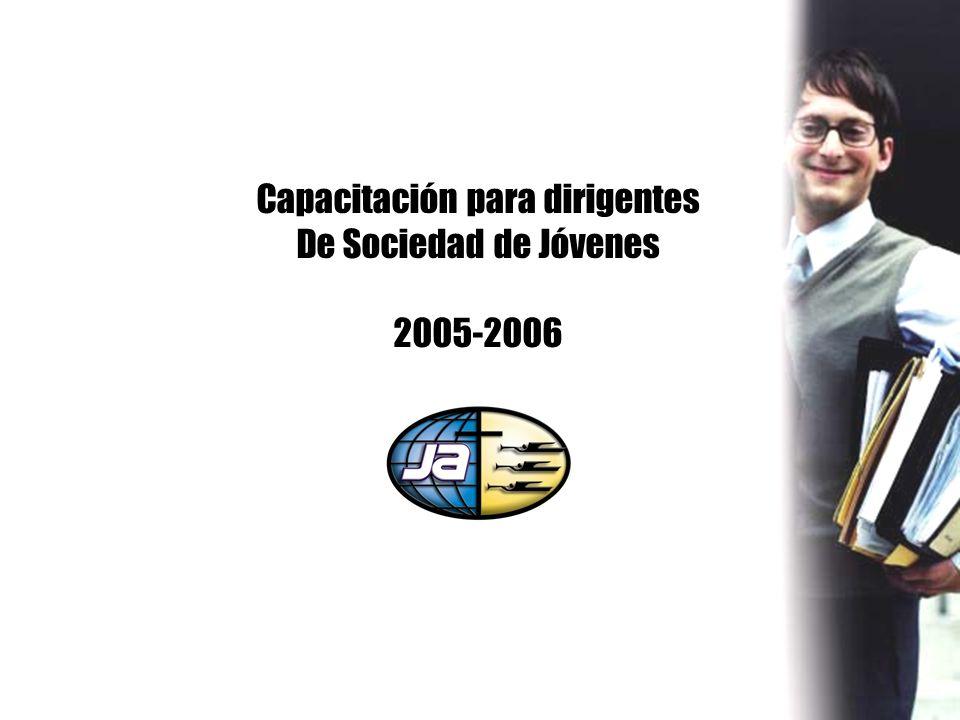 Capacitación para dirigentes De Sociedad de Jóvenes 2005-2006