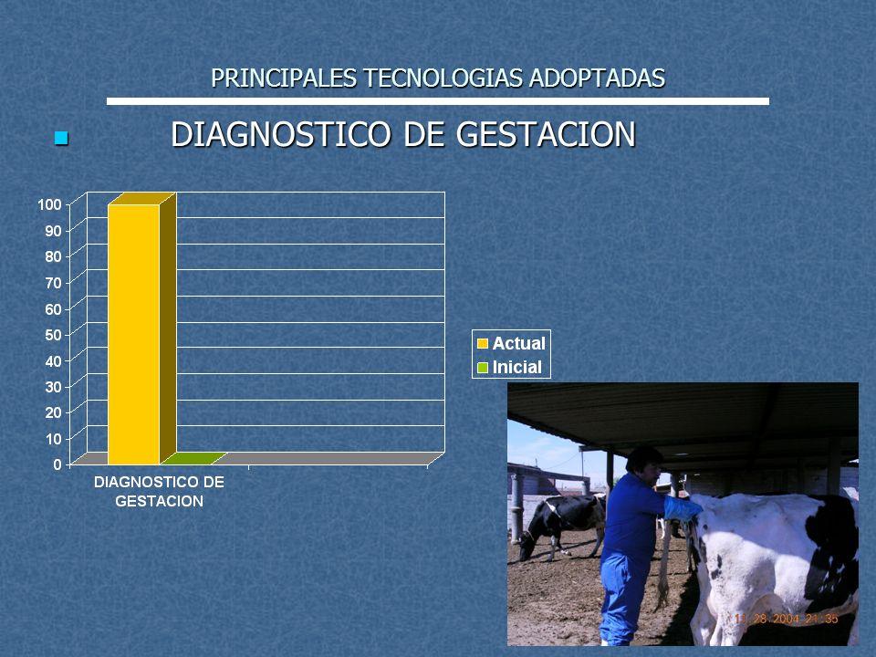 PRINCIPALES TECNOLOGIAS ADOPTADAS DIAGNOSTICO DE GESTACION DIAGNOSTICO DE GESTACION