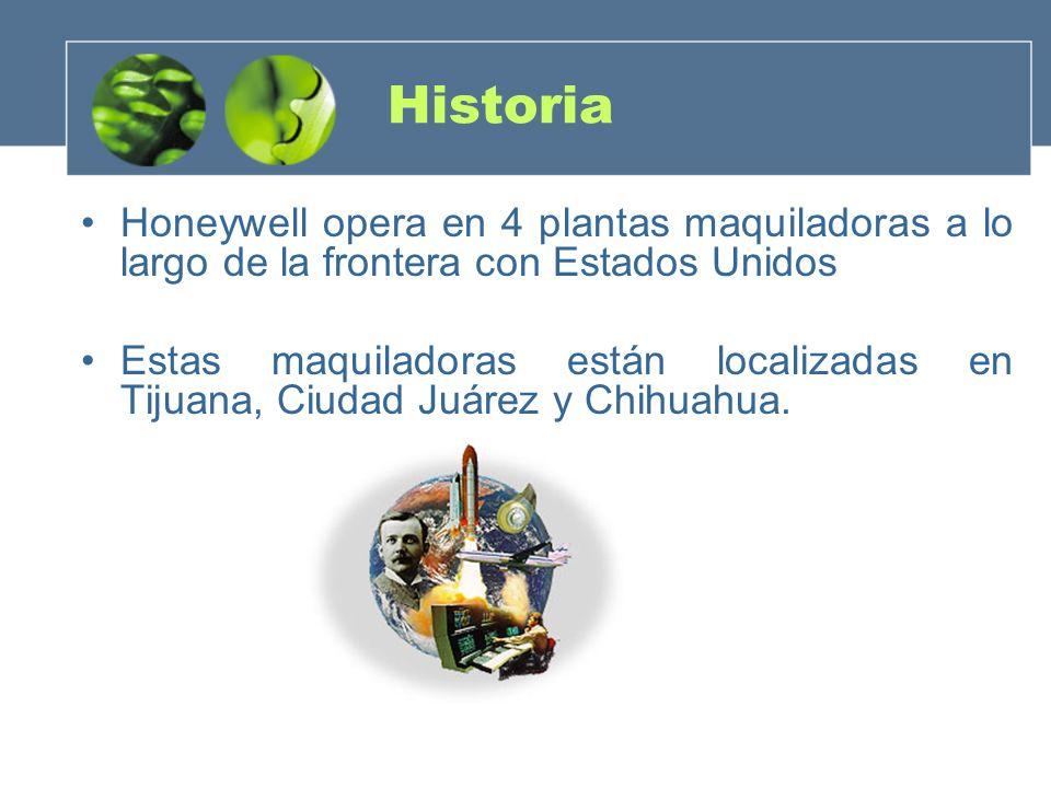 Historia Honeywell opera en 4 plantas maquiladoras a lo largo de la frontera con Estados Unidos Estas maquiladoras están localizadas en Tijuana, Ciuda