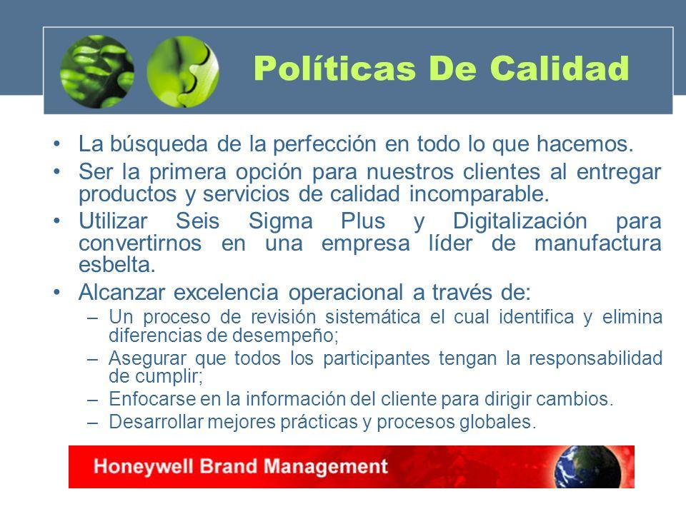 Políticas De Calidad La búsqueda de la perfección en todo lo que hacemos. Ser la primera opción para nuestros clientes al entregar productos y servici