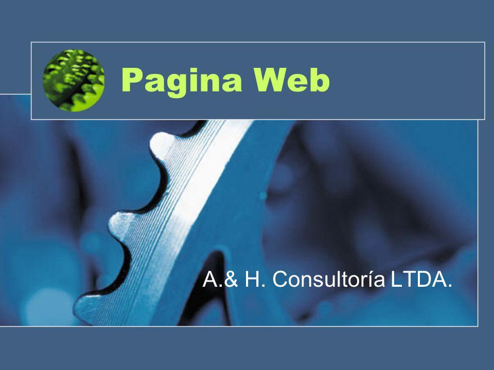 Pagina Web A.& H. Consultoría LTDA.