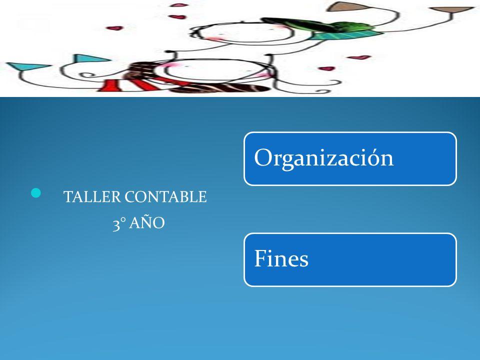 OrganizaciónFines TALLER CONTABLE 3° AÑO