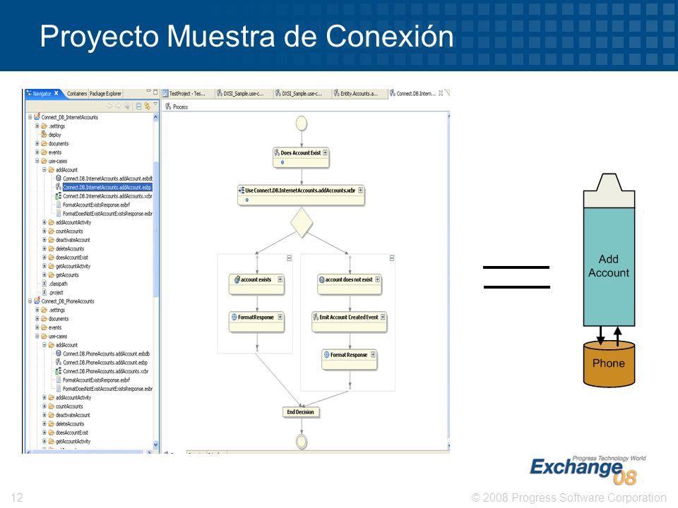 © 2008 Progress Software Corporation12 Proyecto Muestra de Conexión