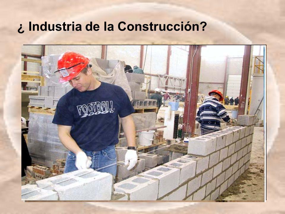 ¿ Industria de la Construcción?
