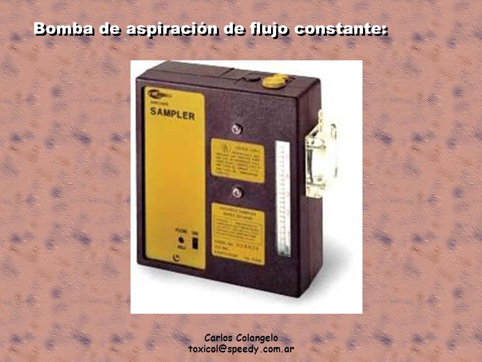 Carlos Colangelo toxicol@speedy.com.ar Bomba de aspiración de flujo constante: