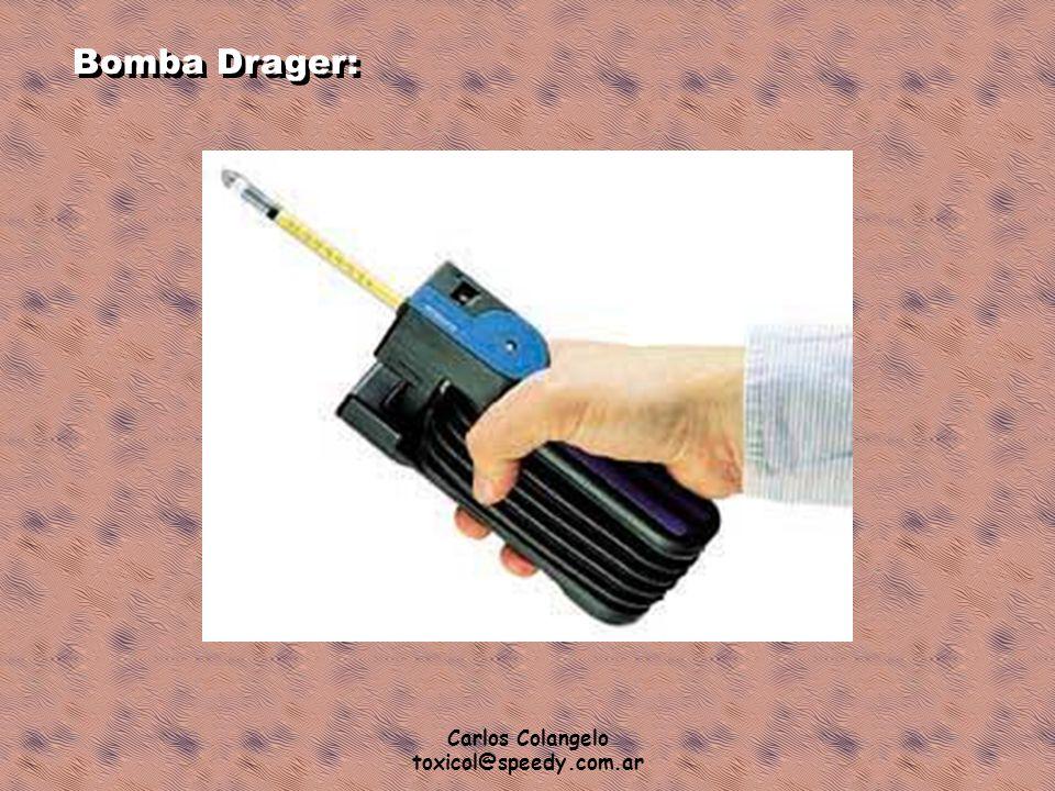 Carlos Colangelo toxicol@speedy.com.ar Bomba Drager: