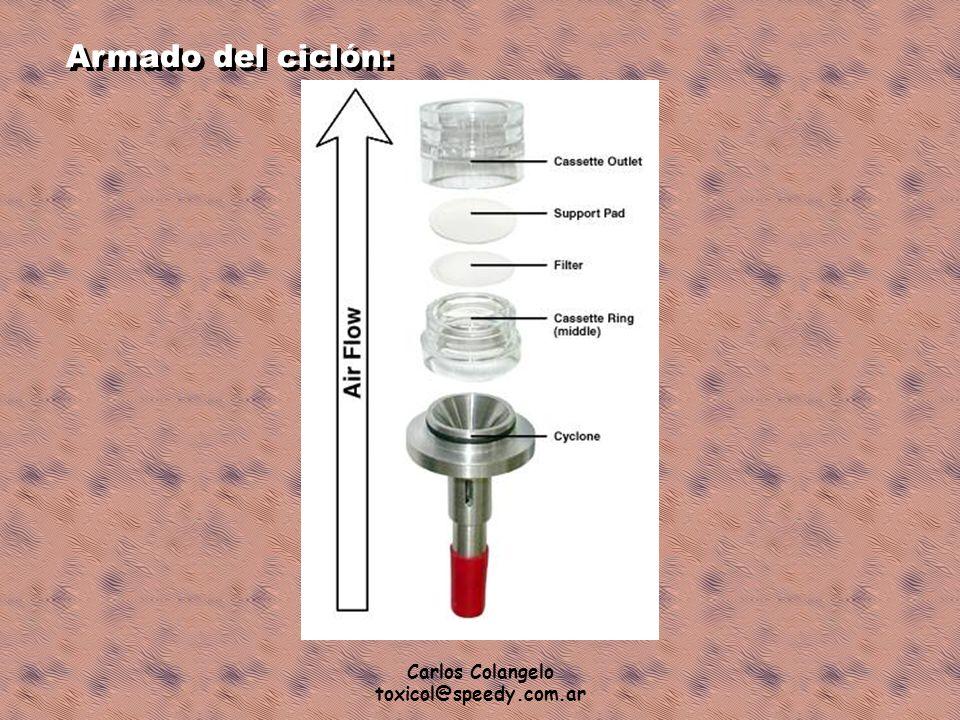 Carlos Colangelo toxicol@speedy.com.ar Armado del ciclón: