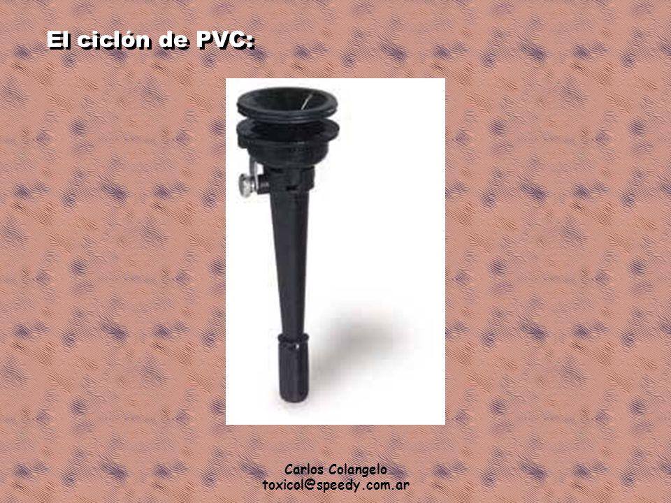 Carlos Colangelo toxicol@speedy.com.ar El ciclón de PVC: