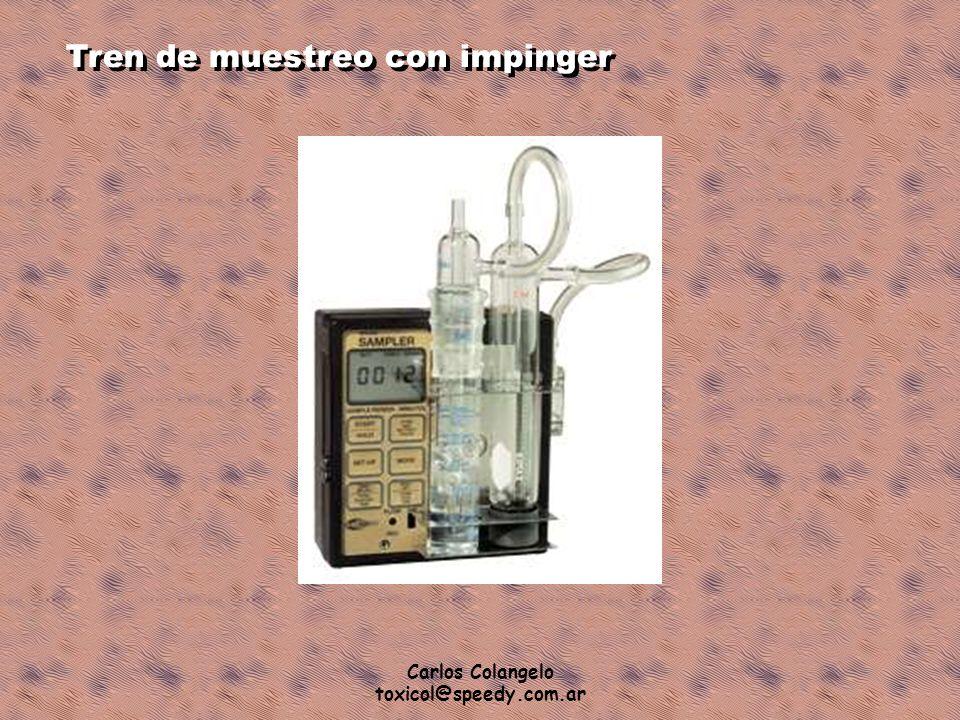Carlos Colangelo toxicol@speedy.com.ar Tren de muestreo con impinger