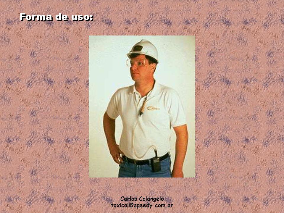 Carlos Colangelo toxicol@speedy.com.ar Forma de uso: