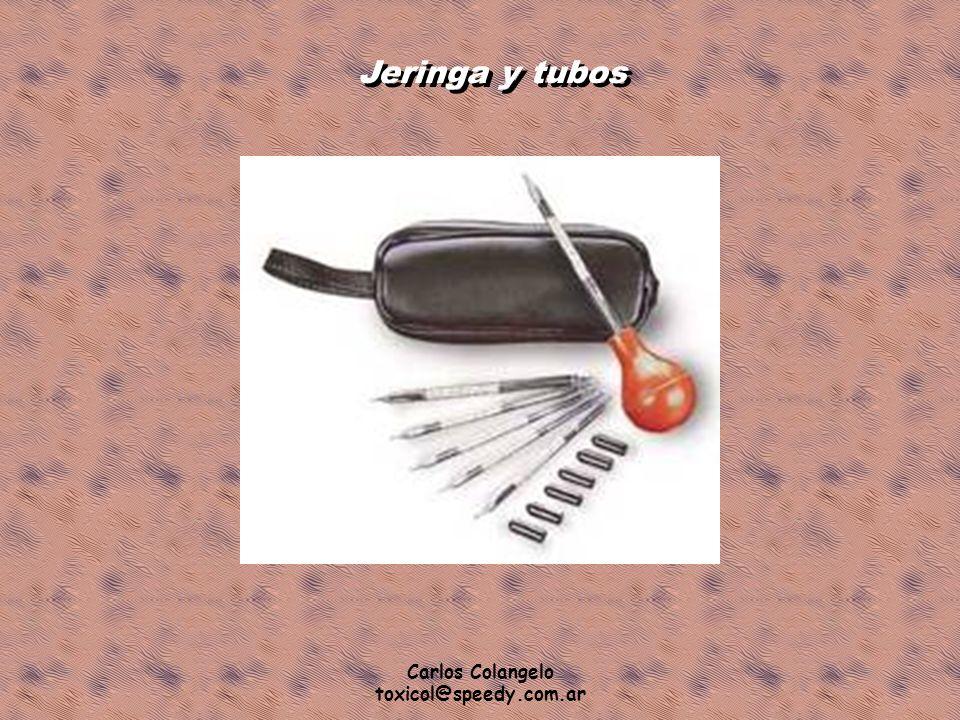 Carlos Colangelo toxicol@speedy.com.ar Jeringa y tubos