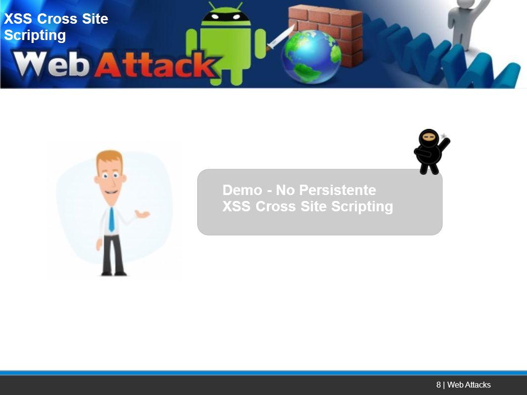 8 | Web Attacks XSS Cross Site Scripting Demo - No Persistente XSS Cross Site Scripting