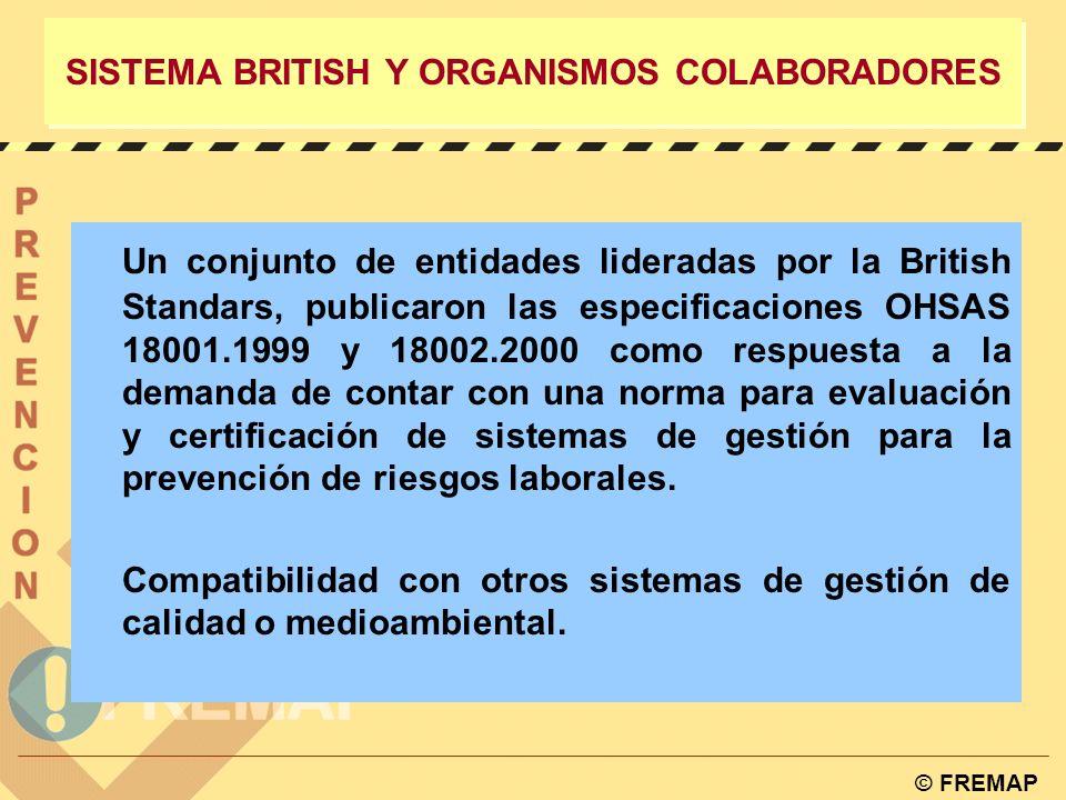 © FREMAP SISTEMA LEGAL ESPAÑOL w Ley de Prevención de Riesgos Laborales (31/1995). w R.D. 39/1997 Reglamento de los Servicios de Prevención. w Ley de