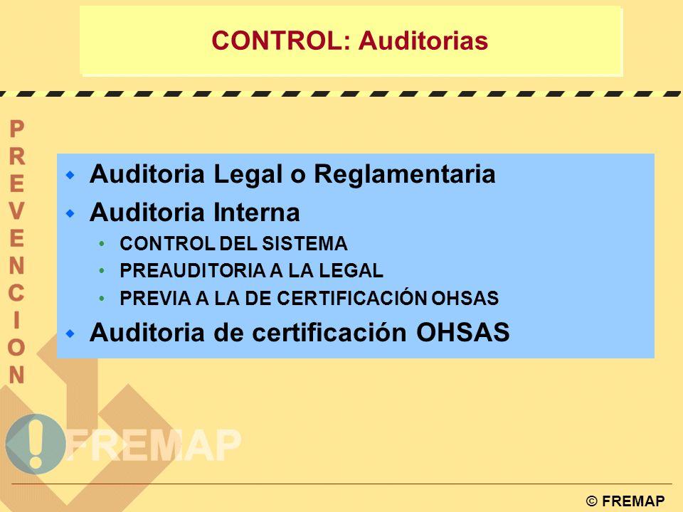 © FREMAP Tabla de correspondencia entre ISO 9001:2000, ISO14001:2004 y OHSAS 18001:1999