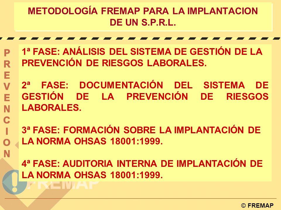 © FREMAP CONTROL: Auditoria Interna RESPALDO w DIRECCIONAUDITORES w SERVICIOS INTERNOS DE EMPRESA w SERVICIOS EXTERNOS: Entidades Privadas Auditoras Servicios de Prevención Ajenos (FREMAP)