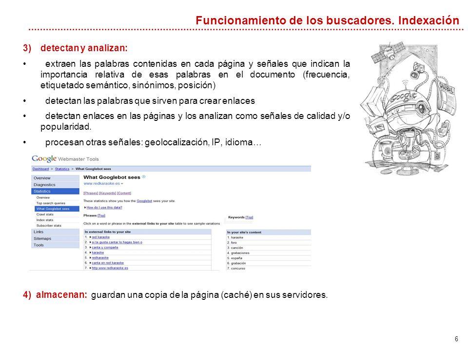 7 Por otra parte, también se procesa la consulta y la estrategia de búsqueda.