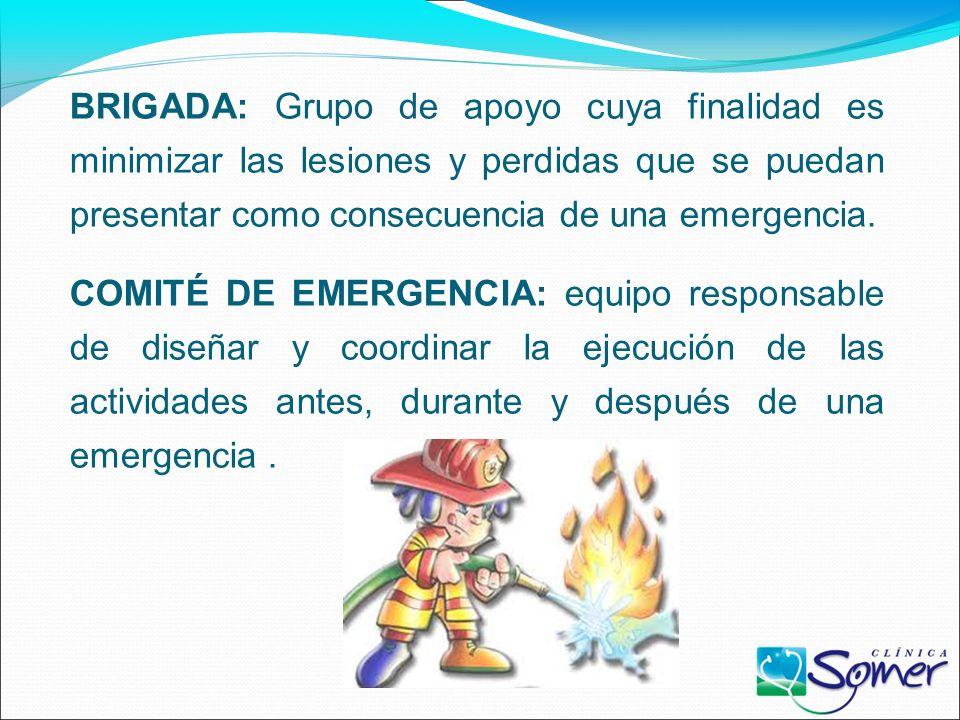EMERGENCIA: suceso que causa daños o alteraciones en las personas, los bienes, los servicios o el medio ambiente. EVACUACIÓN: establecer distancia ent