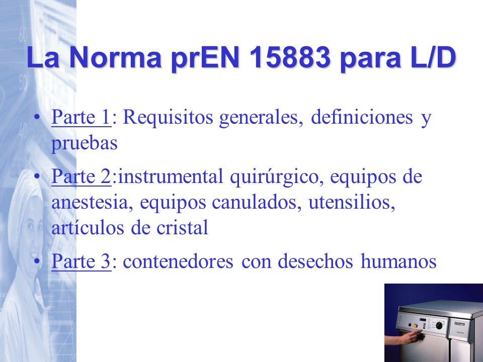 Parte 1: Requisitos generales, definiciones y pruebas Parte 2:instrumental quirúrgico, equipos de anestesia, equipos canulados, utensilios, artículos