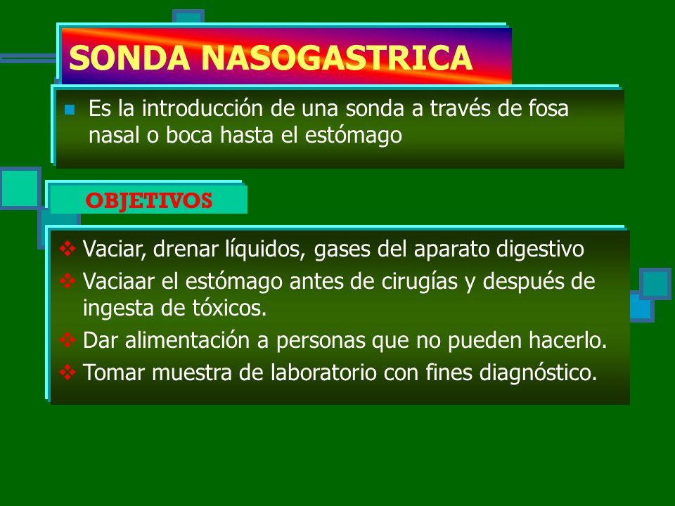 TIPOS DE CATETERES S.N.G. Sonda vesical Via central (llave de 3 vias) Venoclisis (mariposas bránulas) Cateteres heparinizado