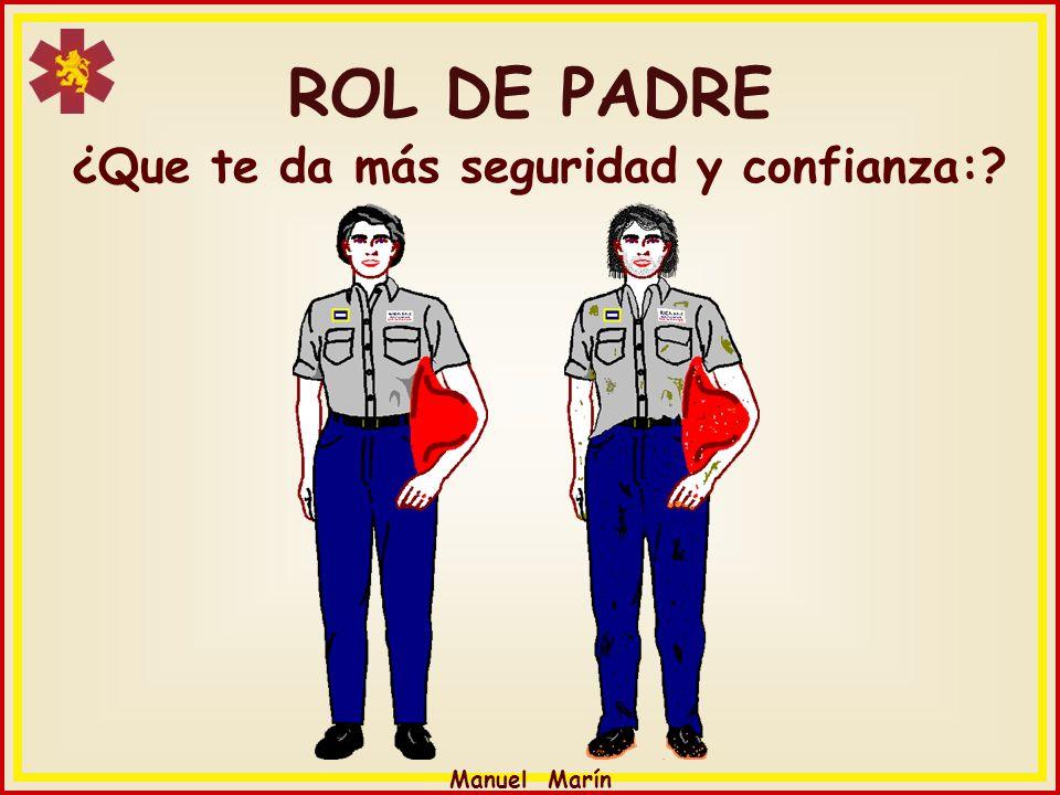 Manuel Marín ¿Que te da más seguridad y confianza:? ROL DE PADRE