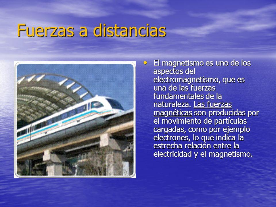 Fuerzas a distancias El magnetismo es uno de los aspectos del electromagnetismo, que es una de las fuerzas fundamentales de la naturaleza.