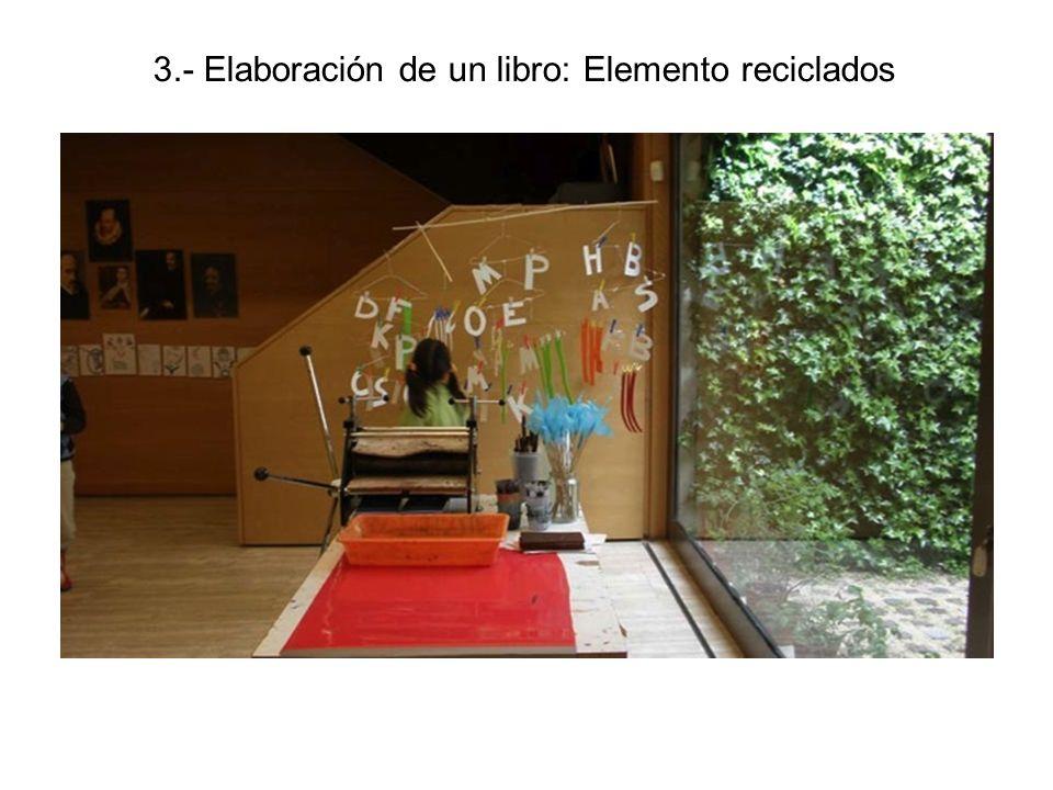 3.- Elaboración de un libro: Elemento reciclados
