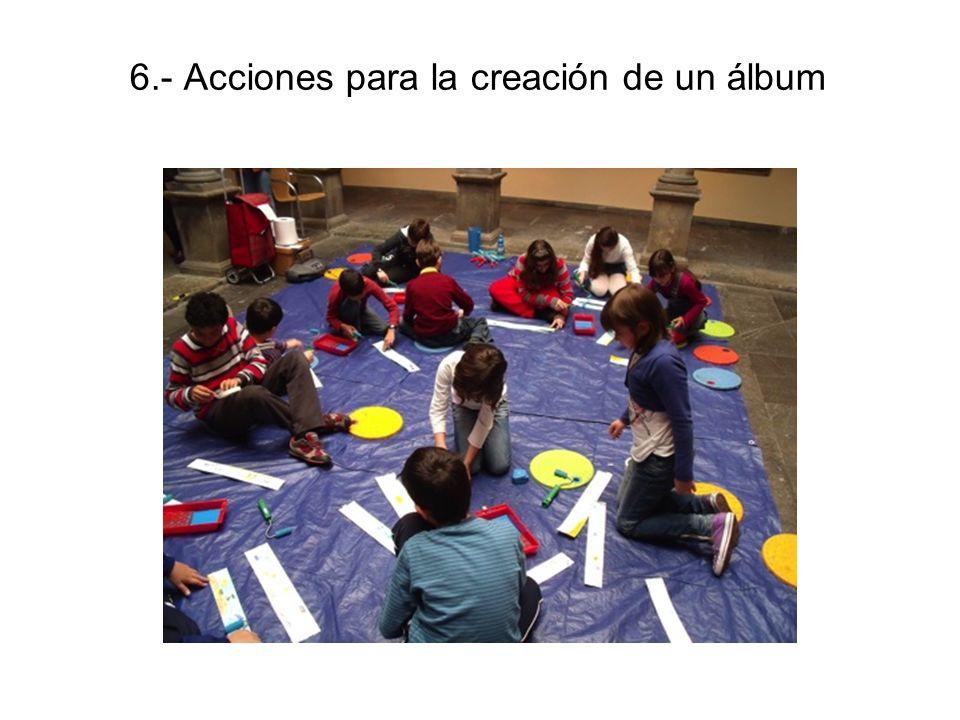 6.- Acciones para la creación de un álbum
