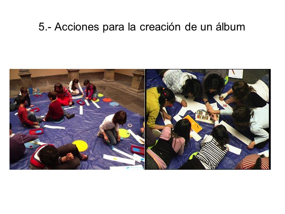 5.- Acciones para la creación de un álbum