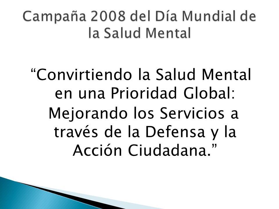 Convirtiendo la Salud Mental en una Prioridad Global: Mejorando los Servicios a través de la Defensa y la Acción Ciudadana.