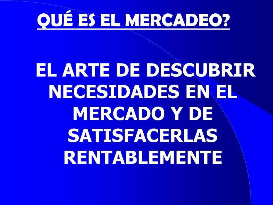 CRITERIOS DE SEGMENTACION MERCADO DE CONSUMIDORES: Geográficos Demográficos Psicográficos Comportamiento de compra MERCADEO