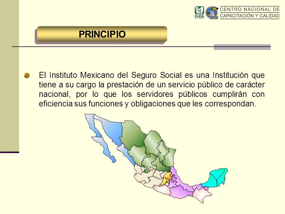 El Instituto Mexicano del Seguro Social es una Institución que tiene a su cargo la prestación de un servicio público de carácter nacional, por lo que