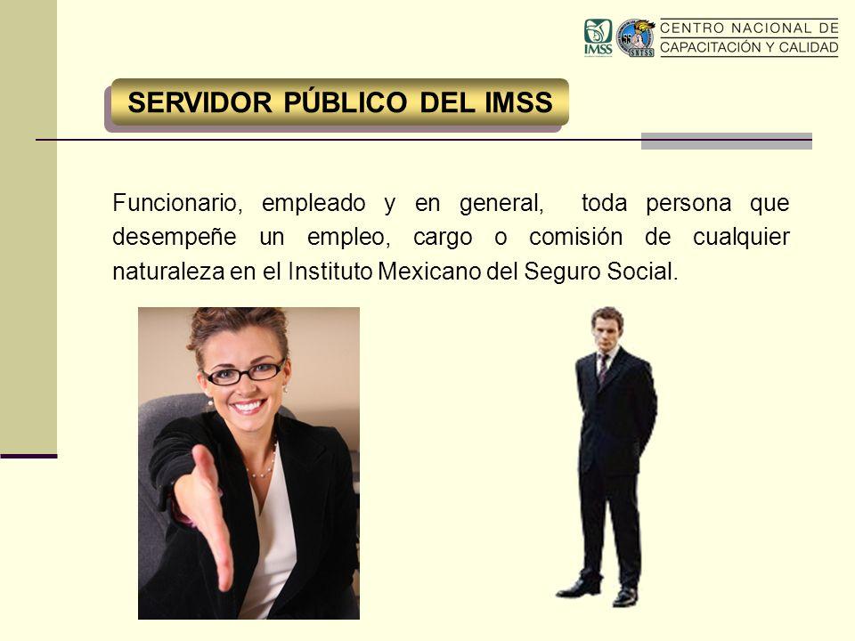 Funcionario, empleado y en general, toda persona que desempeñe un empleo, cargo o comisión de cualquier naturaleza en el Instituto Mexicano del Seguro