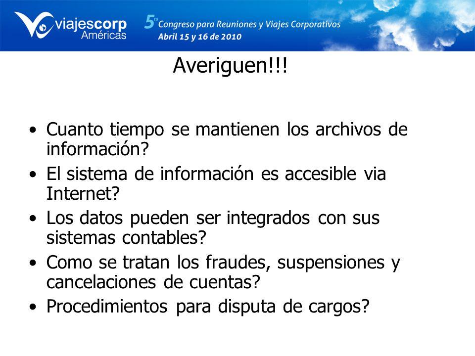 Averiguen!!! Cuanto tiempo se mantienen los archivos de información? El sistema de información es accesible via Internet? Los datos pueden ser integra